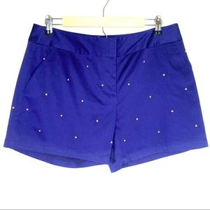 New Julie Brown Studded Shorts Structured Size 8